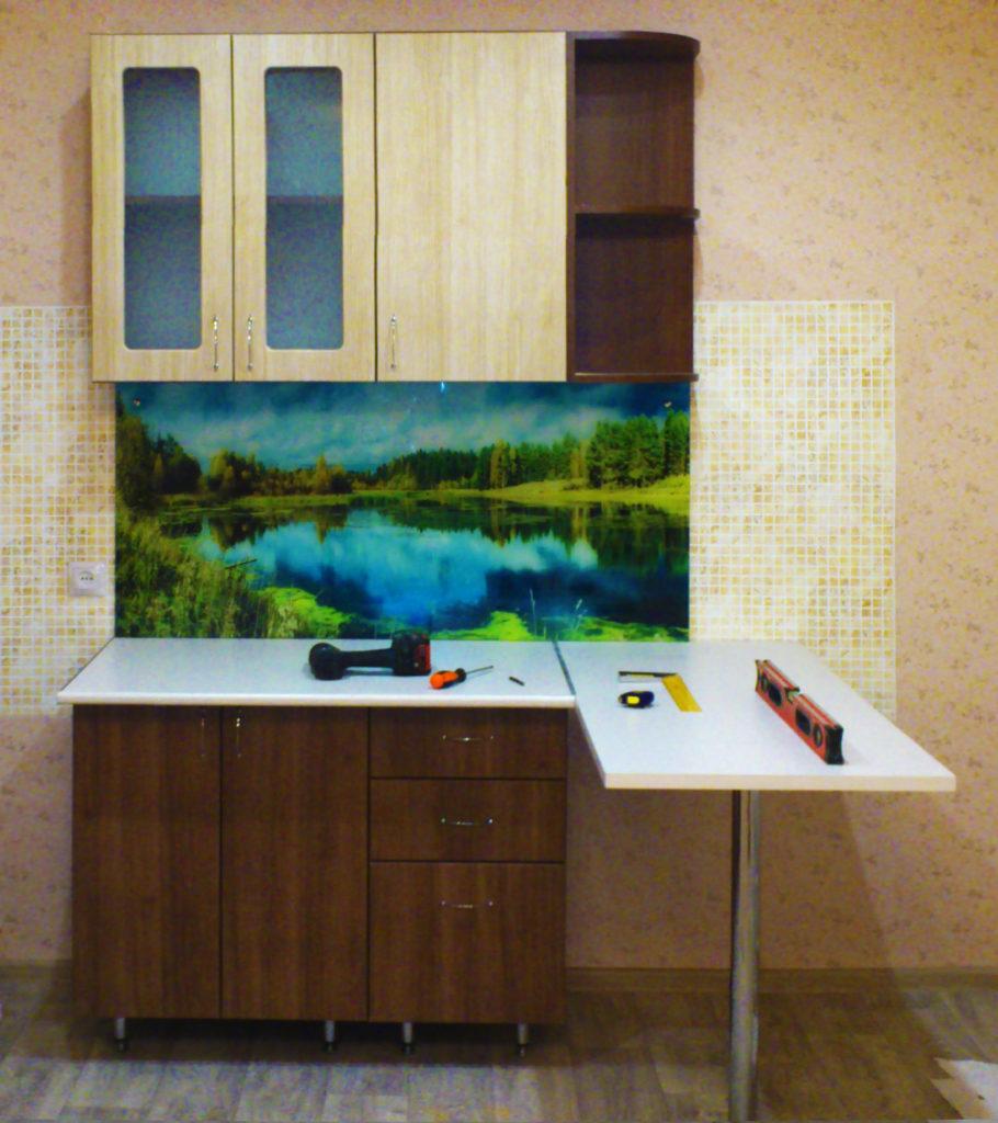 Кухонный фартук, река закаленное стекло