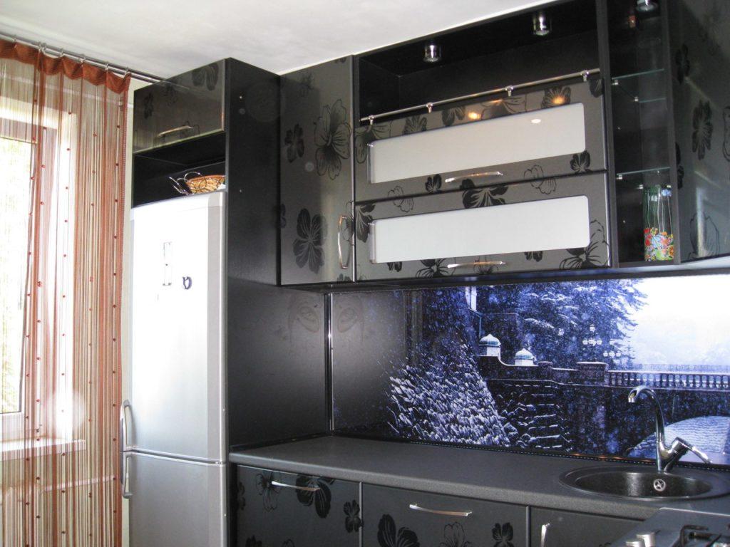 Стеновая панель для кухонного фартука зима в предгорьях Фудзиямы