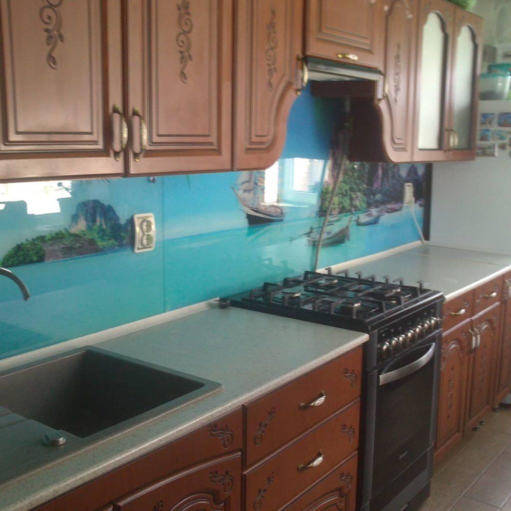 фотопечать на стекле, скинали, скинали из закаленного стекла, изображение для кухонного фартука, картинка для синали, фото для кухни, скинали для кухни, как выбрать скинали для кухни, самые красивые изображения для скинали, кухонный фартук как выбрать, фото для стекла в кухню, стеновая панель в кухню из стекла, лучше всего на кухню подойдет, панель из закаленного стекла, море, пляж, лазурь, перспектива, пространство, фартук с подсветкой