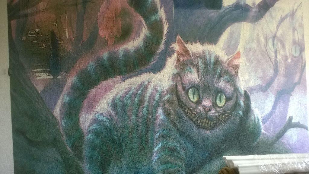 Фотопечать на обоях Чеширский кот