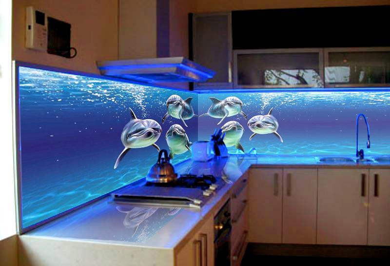 Кухонный фартук с изображением дельфины