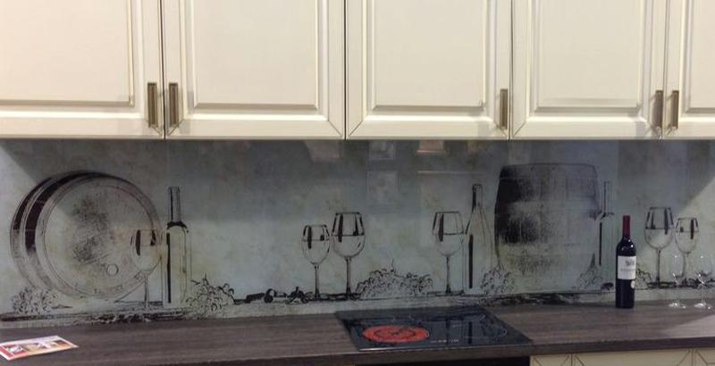Кухонный фартук с рисованным изображением