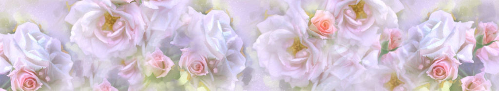 Изображение для кухонного фартука на закаленном стекле нежные розы