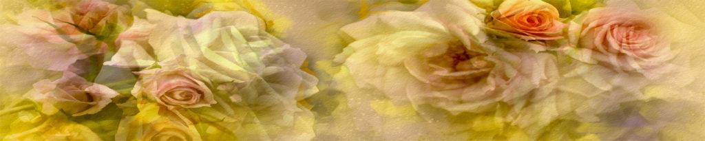 Кухонный фартук изображение розы 3Д