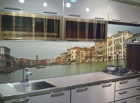 Кухонный фартук в Курске изображение венеция для стеновой панели