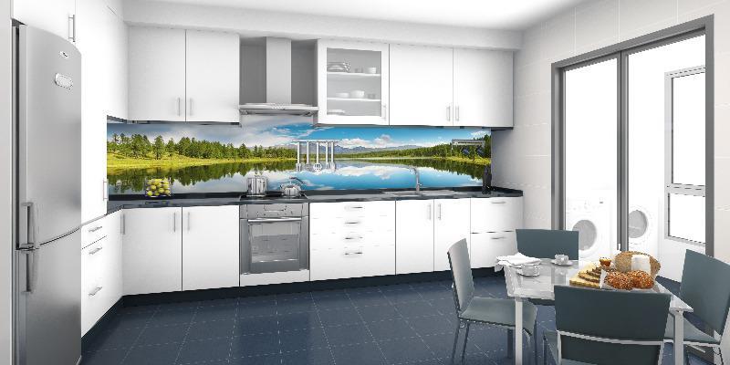 кухонные фартуки в Курске, стеновая панель из закаленного стекла