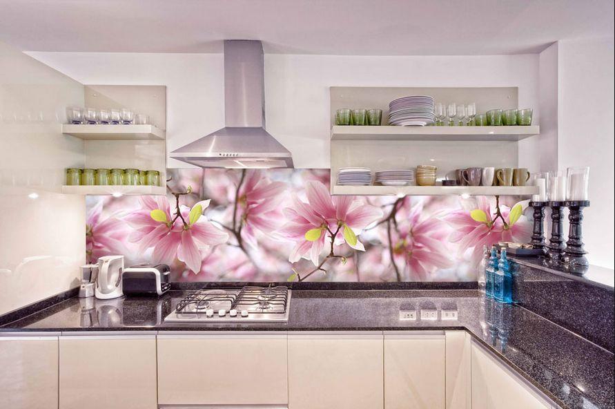 Кухонный фартук цветы