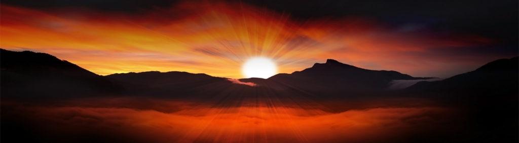 изображение для скинали солнце, горы, рассвет, алый