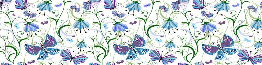 изображение для кухонного фартука бабочки, стеновая панель бабочки