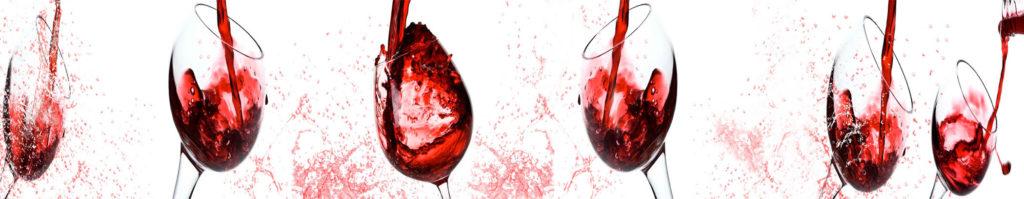 стеновая панель бокалы, изображение для кухонного фартука бокалы, вино,