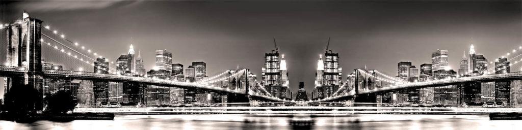 изображение для кухонного фартука нью йорк, мост, бруклинский мост