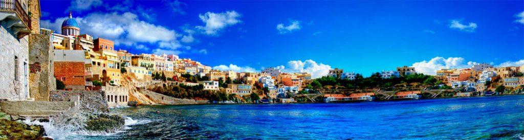 картинка для скинали море, солнце, греция