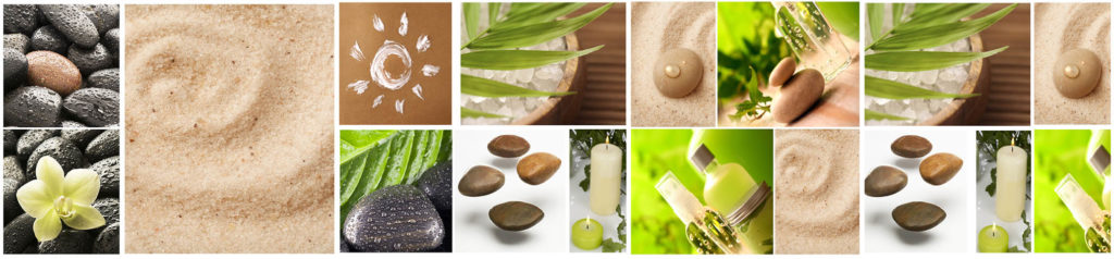 изображение для кухонного фартука тропические фрукты, еда, коллаж