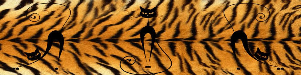 изображение для кухонного фартука шкура, тигриная шкура, необычное изображение для кухонного фартука, оригинальная картинка для скинали
