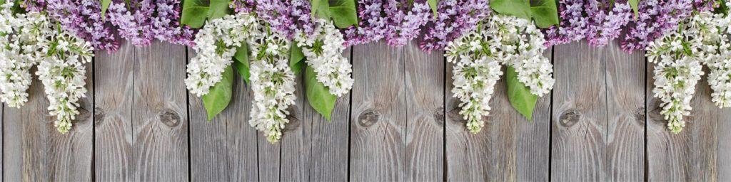 изображения для кухонных фартуков сирень, цветы, дерево