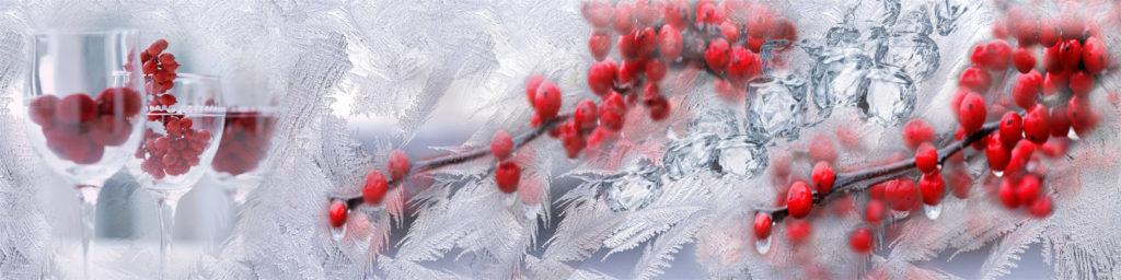 изображения для кухонных фартуков лед, ягоды, бокалы