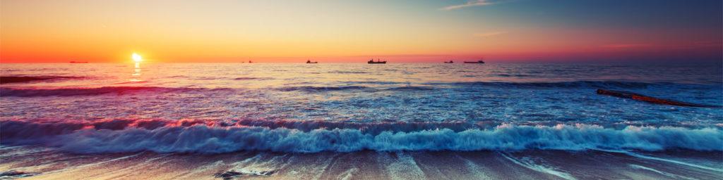 изображения для кухонных фартуков море, солнце, рассвет, прибой