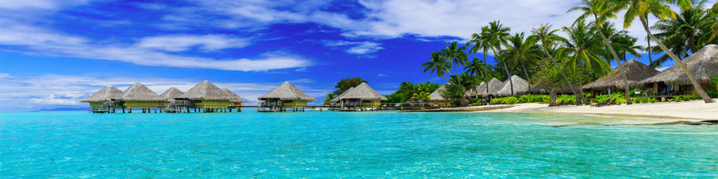 изображения для кухонных фартуков море, небо, тропики, океан, бунгало
