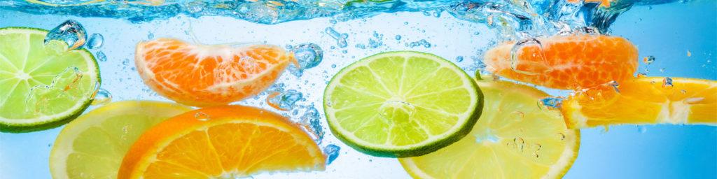 изображения для кухонных фартуков фрукты в воде, цитрусы в воде