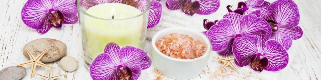 изображения для кухонных фартуков орхидеи розовые, орхидеи, свечи, цветы