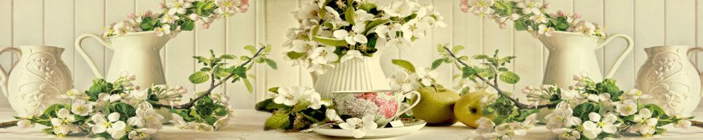 изображения для кухонных фартуков цветы яблони, нежные цветы, изображение для стеновой панели из закаленного стекла