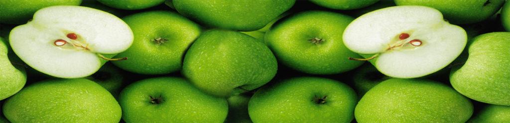 изображение для кухонного фартука зеленые яблоки