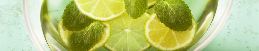 изображение для кухонного фартука лайм. мята, лимон, чай, зеленый чай