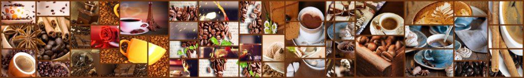 изображение для кухонного фартука кофе, коллаж, чашка кофе