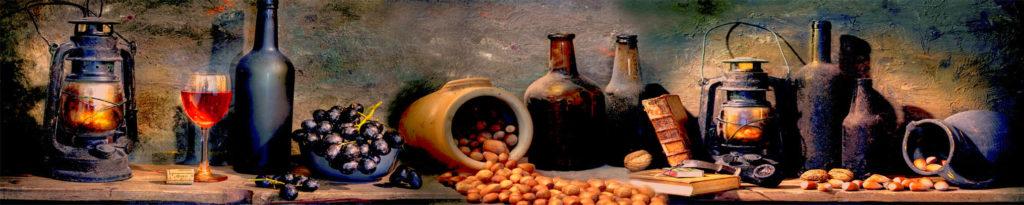 изображение для кухонного фартука кувшин с вином, картинка для скинали под классическую кухню, стиль прованс ,
