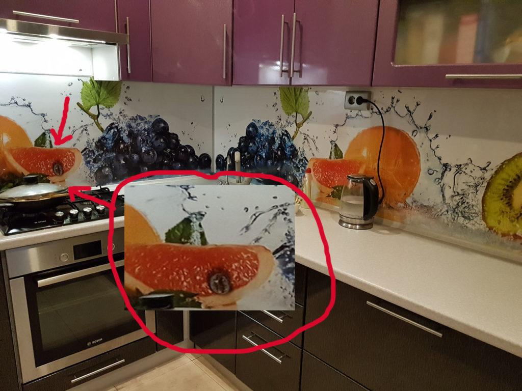 фартук МДФ, скинали МДФ, как ведут себя на кухни скинали из МДФ, что лучше выбрать стекло иди МДФ