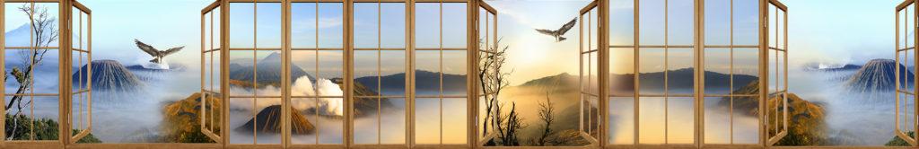фотопечать на стекле, скинали, скинали из закаленного стекла, изображение для кухонного фартука, картинка для синали, фото для кухни, скинали для кухни, как выбрать скинали для кухни, самые красивые изображения для скинали, кухонный фартук как выбрать, фото для стекла в кухню, стеновая панель в кухню из стекла, лучше всего на кухню подойдет панель из закаленного стекла,окна, пространство, вид на горы, орлы, расширение пространства, перспектива, окна-горы-вид-на-горы-орлы-в-небе-парят, расширение-пространства-перспектива